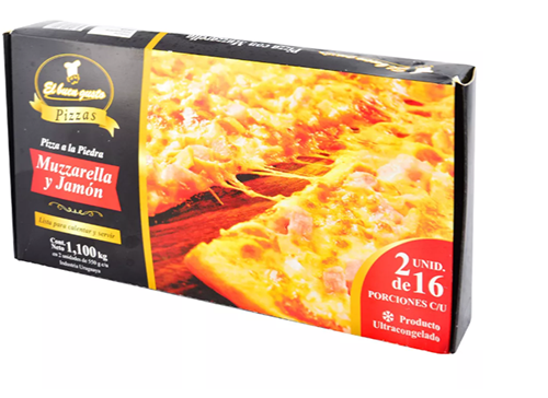 PIZZA JAMON Y MUZZA 32 PORCIONES